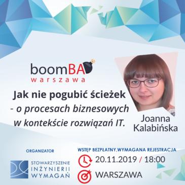 boomBA #8 – Jak nie pogubić ścieżek – o procesach biznesowych w kontekście rozwiązań IT