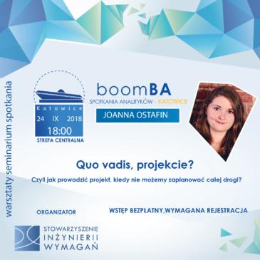 boomBA #4 – Quo vadis, projekcie? Czyli jak prowadzić projekt, kiedy nie możemy zaplanować całej drogi?