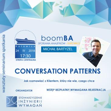 boomBA #3 – Conversation Patterns – Jak rozmawiać z klientem, który nie wie, czego chce