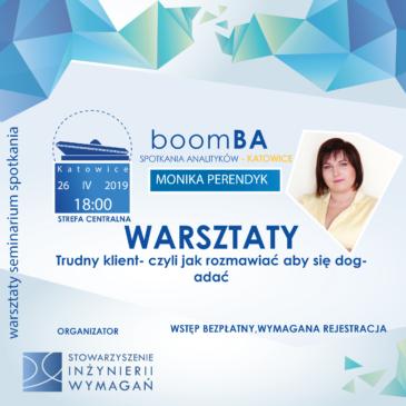 """boomBA #5 – Warsztaty: """"Trudny klient- czyli jak rozmawiać żeby się dogadać"""""""