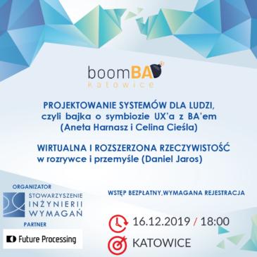 boomBA #9 – Projektowanie systemów dla ludzi – czyli bajka o symbiozie UX'a z BA'em.