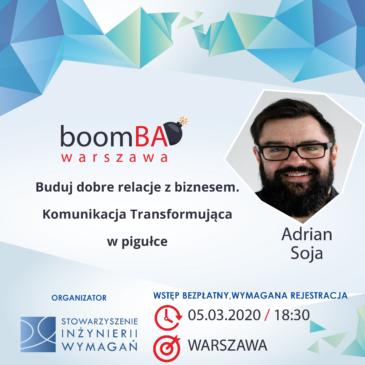 boomBA #13 – Buduj dobre relacje z biznesem. Komunikacja Transformująca w pigułce.
