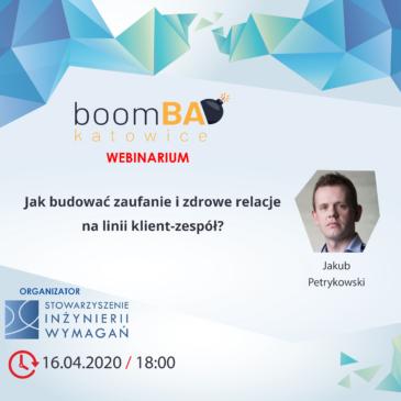 boomBA #16 – Jak budować zaufanie i zdrowe relacje na linii klient-zespół?