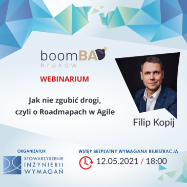 """boomBA #21 (WEBINARIUM) – """"Jak nie zgubić drogi, czyli o Roadmapach w Agile"""""""